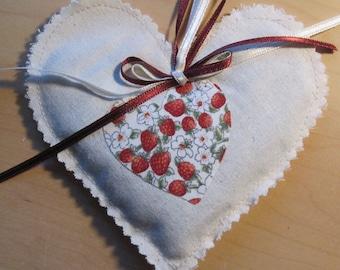 Small calico Lavender heart
