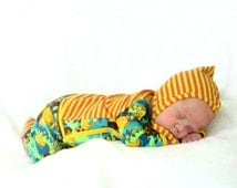 infant baby boy outfit, newborn take home set, Born to be Wild JUNGLE Animals Kimono Shirt, Pants and Pixie Hat. sizes NB, 0-3m, 3-6m
