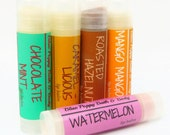 Lip Balm 5 Pack, Handmade Lip Balm, Your Choice of Flavors, Stocking Stuffer, Teacher Gifts, Birthday Party Favors