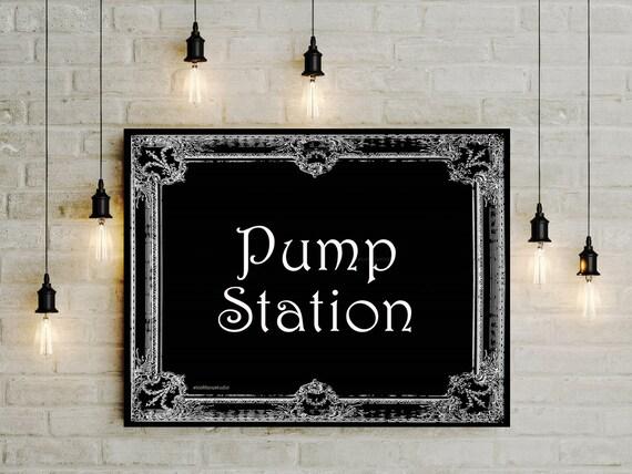 Lactation Printable Sign Pump Station Diy Digital