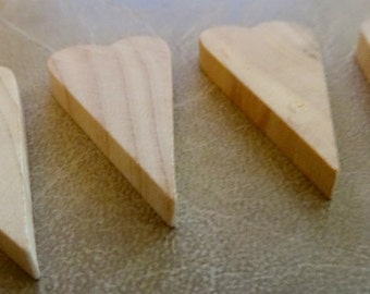 Four tiny wood hearts, unfinished, ornaments, wood, hearts, crafts, unfinished wood, wood, hearts, tiny hearts, jewelry, heart jewelry