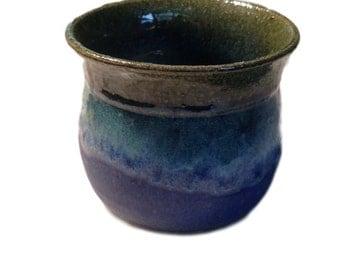 Berkshire Studio Pottery Blue and Brown Jar