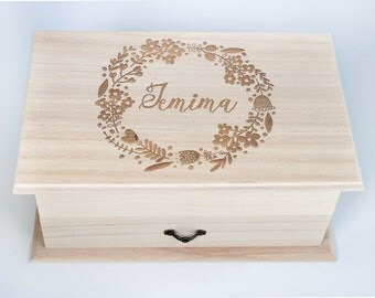 Jewellery Box, personalised - Bridesmaid gift, Mother of the Bride gift, Maid of Honour gift, Flowergirl gift, gift for her, custom text