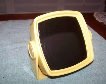 Vintage Yellow Free Standing Table Mirror