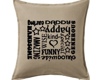 Daddy Pillow, Daddy Cushion, Daddy Gift, Dad Pillow, Father's Day Gift, Personalized Daddy Pillow, Home Decor, Custom Pilow
