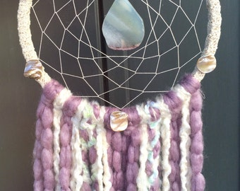 Mermaid Tales Dream Catcher- With Agate & Abalone