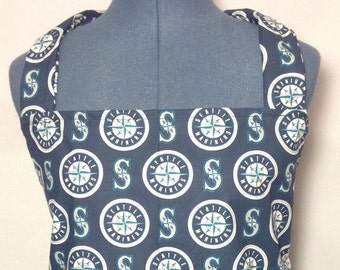 Seattle Mariners- Full Size BBQ Apron with Pockets
