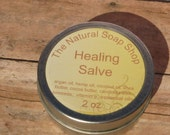 Healing Salve + Free Lip Balm 2 oz Tin Hand Salve, Non-Greasy Great for Extemeley Dry Hands