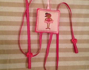 Hair clip holder, ballet dancer clip holder
