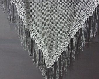 Silver with black shawl.