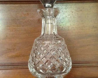Vintage Waterford Crystal (Alana Pattern) Brandy Decanter with Stopper - Made in Ireland - 1980's