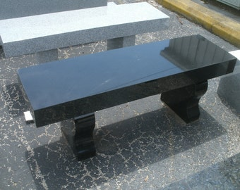 "48 x 14"" Granite bench Absolute Black"