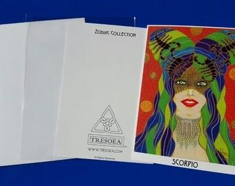 SCORPIO - Zodiac Greeting Card - 5X7