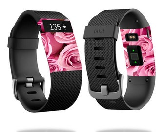 Skin Decal Wrap for Fitbit Blaze, Charge, Charge HR, Surge Watch cover sticker Pink Roses