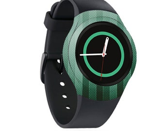 Skin Decal Wrap for Samsung Gear S2, S2 3G, Live, Neo S Smart Watch, Galaxy Gear Fit cover sticker Green Lines