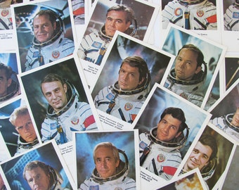 Set of 27 Postcards with portraits of soviet cosmonauts, Photos, Space, Astronaut, Soviet Union Vintage Postcard, USSR, Unused, 1978