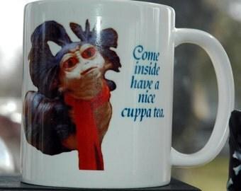 Labyrinth Worm Cuppa Tea Printed Ceramic Mug 11/15 ounce ~80s Retro Tea Cup