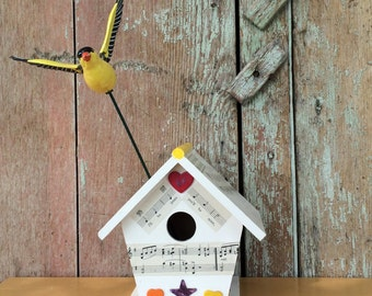 Assemblage Art, Birdhouse, Art Piece