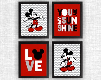 Mickey Mouse Wall Art mickey mouse room wall decor read me a story mickey and