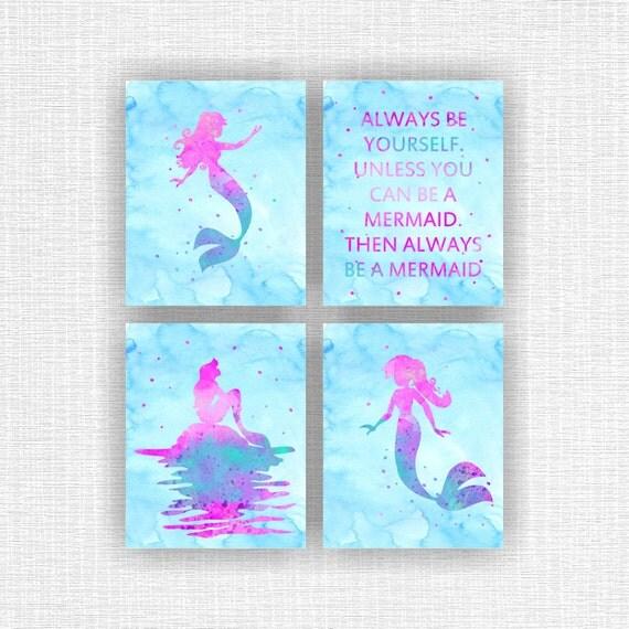 The Little Mermaid Ariel Silhouette Disney Quote Disney