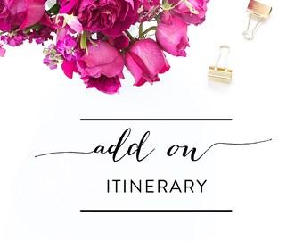 Add-On - Matching Itinerary Card