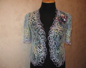 Summer dressy jacket made in the technique crazy vul