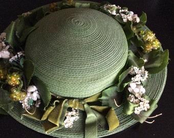 Saks Fifth Avenue Vintage straw hat