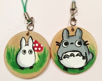 Totoro qood painted keychain