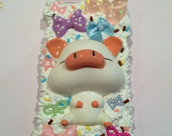 Iphone 6 cover cream Pig kawaii