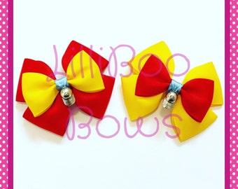 Handmade Tweedledee or Tweedledum Alice in Wonderland Inspired Hair Bow