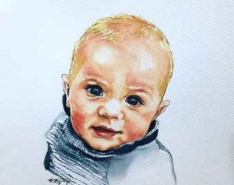 WATERART* Art commissioning, Baby portrait, Custom portrait, Family portrait