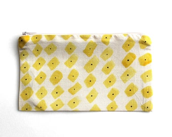 Hand painted pencil case 'Ray in' design