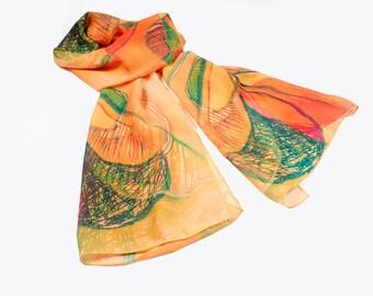 Wedding Scarf, Neck Scarf, Festival Clothing, Womens Shawl, Fantasy Art, Infinity Scarf, Boho Shawl, Hipster Scarf, Colorful Accessories