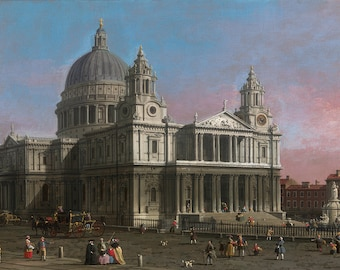 Canaletto: St Paul's Cathedral, London. Fine Art Print/Poster. (003630)