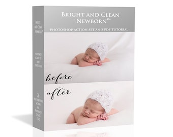 SALE!  Bright and Clean Newborn™ Photoshop Action Set |  PS Actions