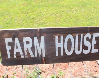 Wooden farm house sign
