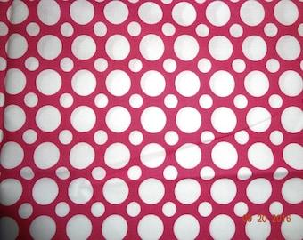 1 Yard Robert Kaufman Spot On in Pink Cotton Fabric