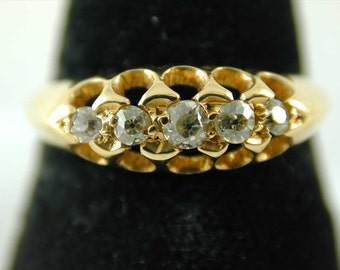 Antique Edwardian diamond ring dated 1908 18ct gold 0.20 cts