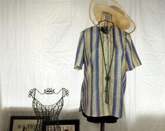Vintage Patterned Blouse