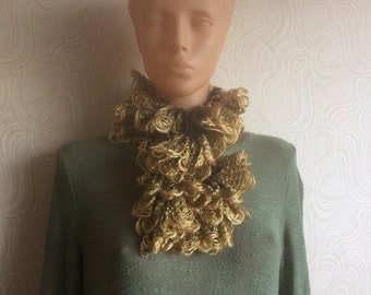Knit Ruffled Scarf, Wonderful Christmas gift
