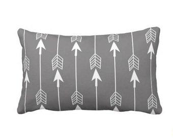 Arrow Pillow - Lumbar Pillow - Gray Pillow - Woodland Nursery - Grey Pillow - Nursery Decor - Boy - Girl