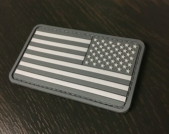 US Reverse Flag Patch - Ghost Edition