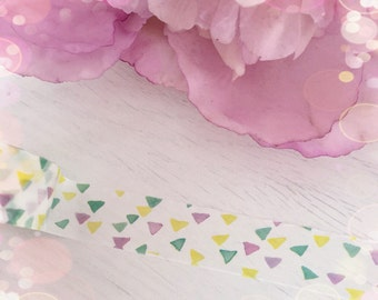 Watercolour Rainbow Triangle Washi...