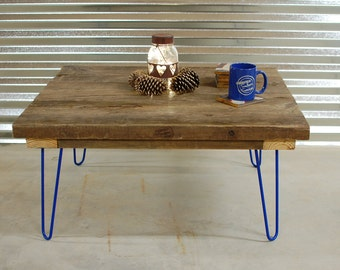 Wood Coffee Table with Mid Century Hairpin Legs - Free Shipping