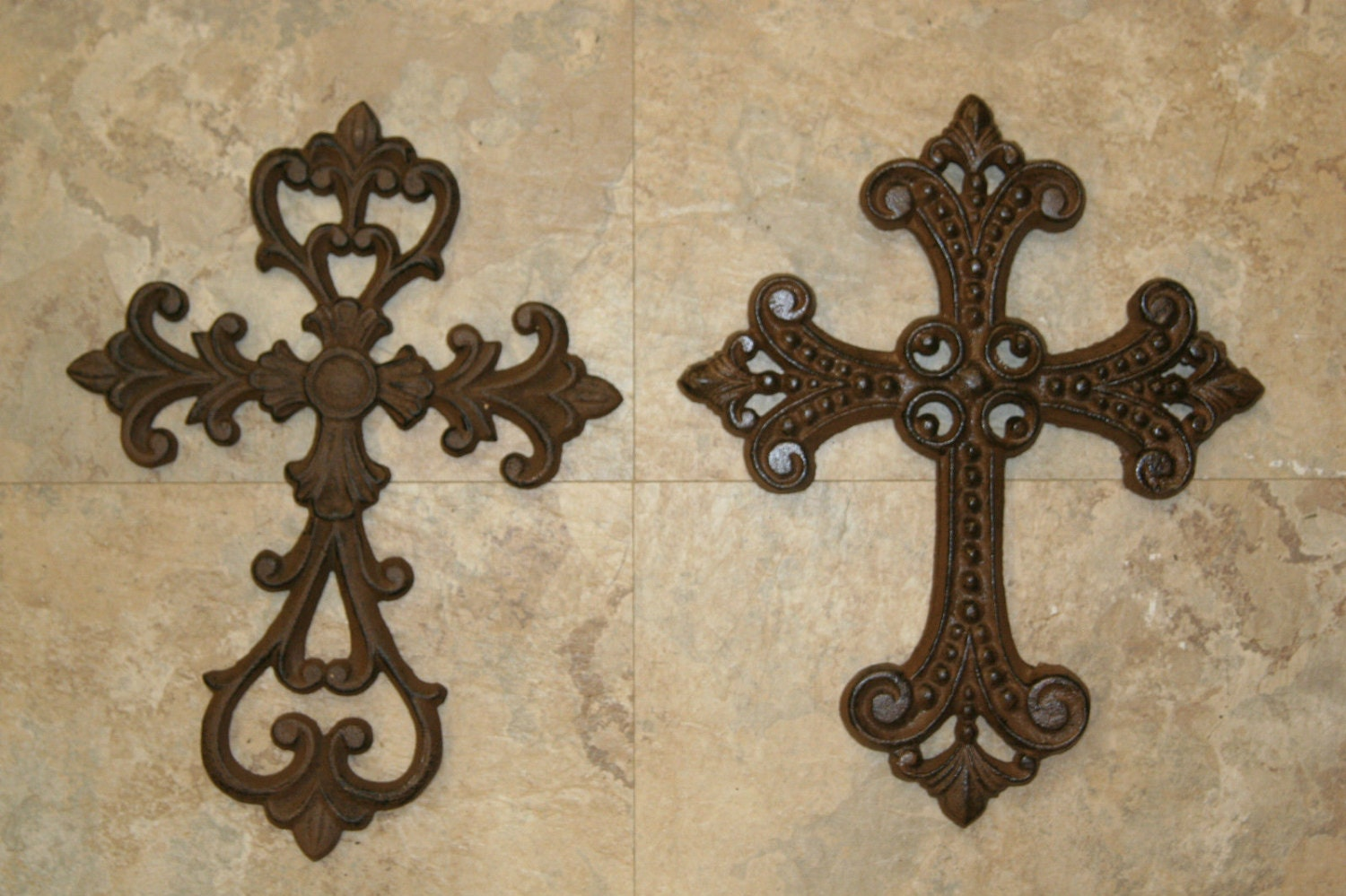 2pcs Fleur De Lis cast iron cross wall decor free shipping