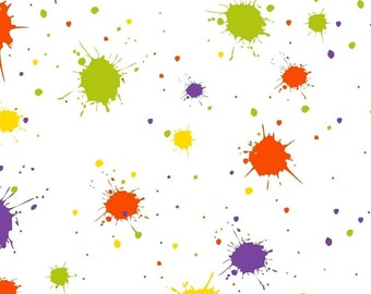 "Splatter Paint Tissue Paper # 217 / Gift Paper -- 10 Large Sheets - 20"" x 30"""