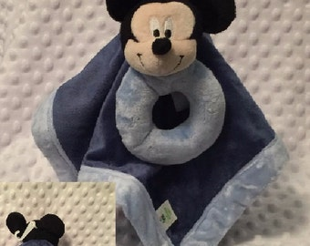 Mickey Mouse inspired Snuggle Blankey Security Baby Blanket - Monogrammed