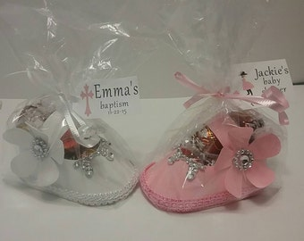 10 Pc baby paper shoes favor box, baby shower favor