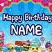 Shopkins Birthday Banner - custom