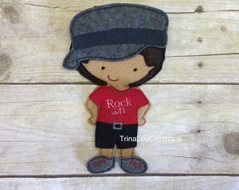 Felt Non Paper Doll, Marcus Un Paper Doll, Pretend Play, Travel Toy, Felt Board Play, Flat Doll, Quiet Time Play, Floor Play, Educational